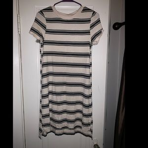Striped t shirt dress, so soft!